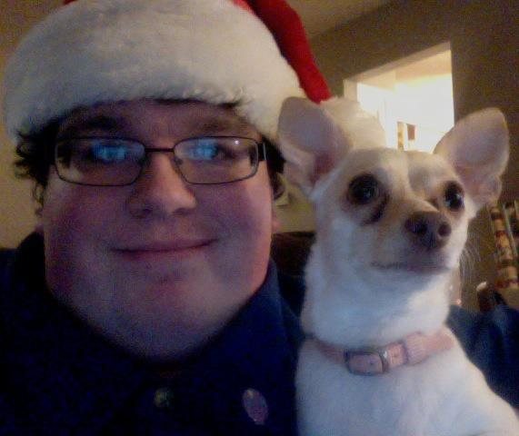 Al and his chihuahua say Merry Christmas!